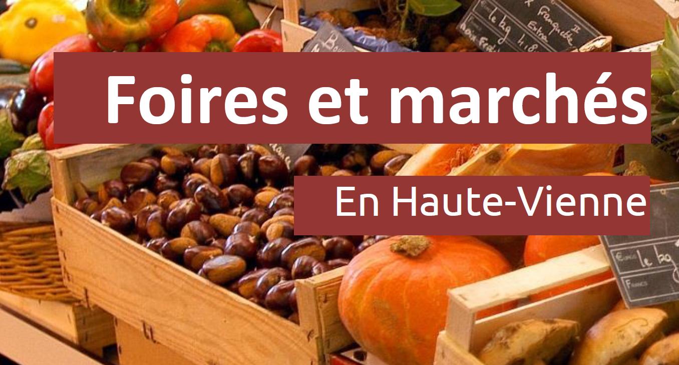 Foires et marchés en Haute-vienne – 2019