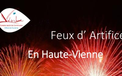 Feux d'artifice en Haute-Vienne – 2019