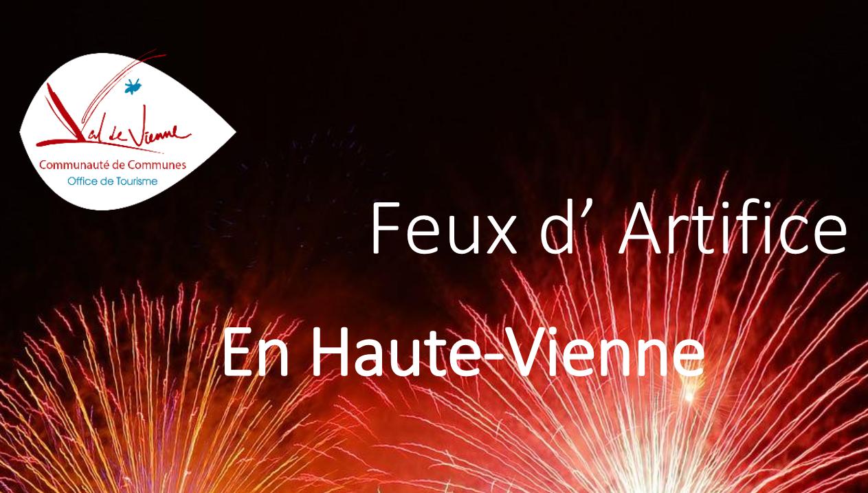 Feux d'artifice en Haute-Vienne – 2018